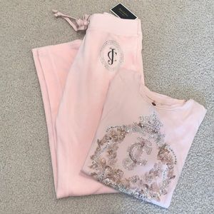 BUNDLE ‼️ JUICY COUTURE track pant and t shirt